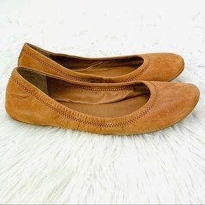 Lucky Brand Elysia Ballet Flats Shoes Tan Camel